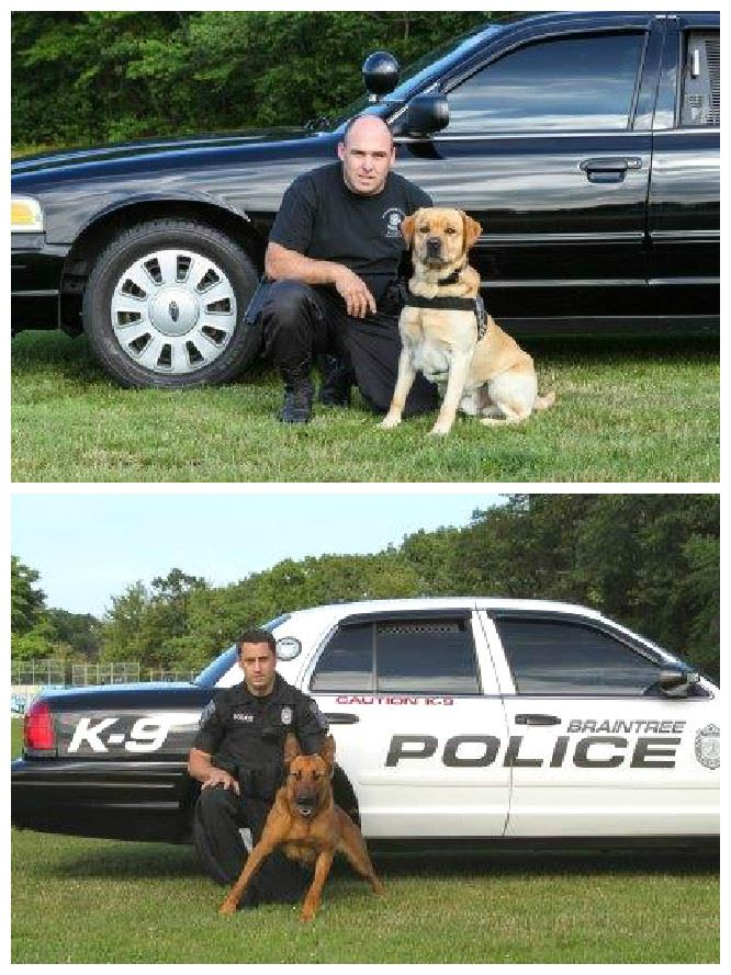 K9 Handlers with their Partners, Lucky and Kitt